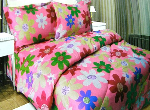 Kids Bedding-Daisy Flowers Micro Fiber Comforter and Shams