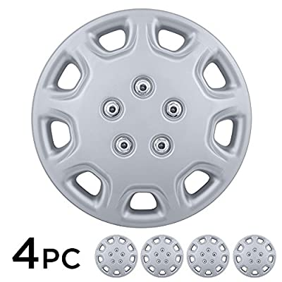 "BDK USA 4 Piece KT 853 14"" Silver Replacement Hubcaps"