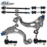 DLZ 8 Pcs Front Kit-2 Lower Control Arm & Ball Joint Assembly, 2 Inner 2 Outer Tie Rod End, 2 Sway Bar for 2000-2005 Buick LeSabre/Cadillac DeVille/Pontiac Bonneville, 1998-2004 Cadillac Seville