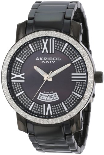 Akribos-XXIV-Mens-AK506BK-Diamond-Swiss-Quartz-Bracelet-Watch
