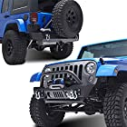E-Autogrilles 07-15 Jeep Wrangler JK Stubby Xtreme Combo of Front and R3 Rear Bumper with Tire Carrier (51-0357+51-0315)