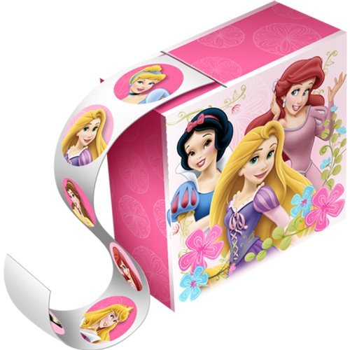 Disney Princess Roll 100 Count Sticker Boxes - 4 Boxes Per Package