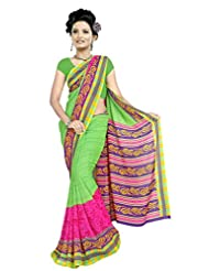 Designer Sari Lovely Printed Casual Wear Faux Georgette Saree By Triveni