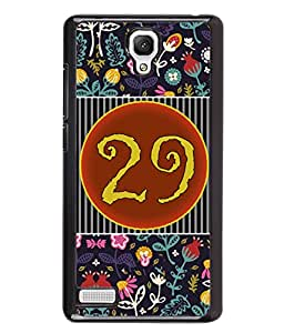 PrintVisa Metal Printed Numeric Designer Back Case Cover for Xiaomi Redmi Note 4G -D4780