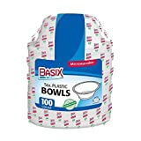 Basix 100 Count Disposable Plastic Bowls Microwave Safe 5 Ounce, White Pack Of 1