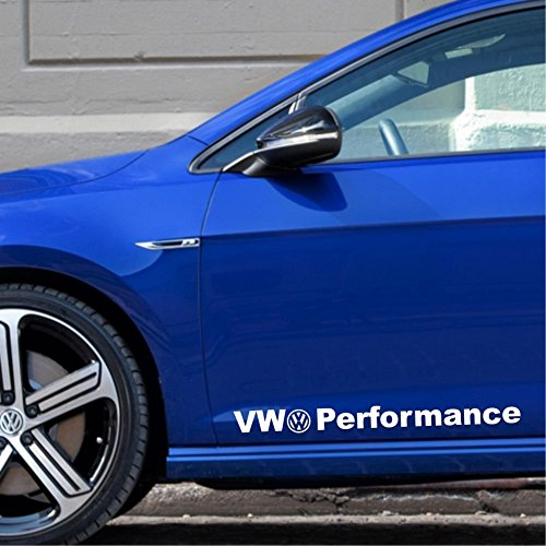 2-x-VW-Performance-55-cm-Disque-autocollant-autocollants-Tuning-Disque-sans-fond