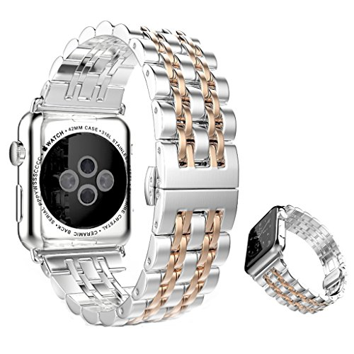 dokpavr-apple-watch-band-stainless-steel-replacement-band-strap-bracelet-with-seven-beads-butterfly-