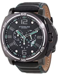 Stuhrling Original Men's 245A.332V571 Sportsman Excursion Blazer Swiss Quartz Chronograph Date Black Watch