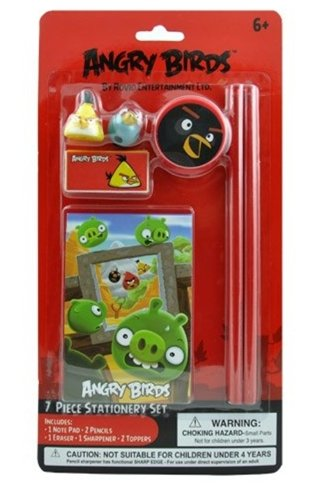 Amscan Angry Birds Birthdays and Party Stationery Set ( Piece),, Red/Yellow/Blue/Green