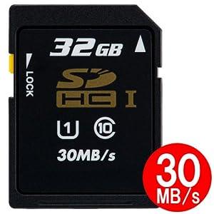 東芝日本製 SDHC カード 32GB クラス10 UHS-I 30MB/s 保管用クリアケース付きバルク品