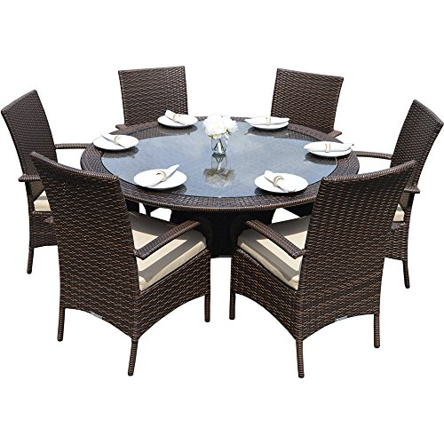 Pleasant Best Offer Kingston 6 Seat Brown Circular Outdoor All Pdpeps Interior Chair Design Pdpepsorg