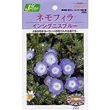 [寒地3~4月、暖地9~10月まき 花タネ]ネモフィラ:インシグニスブルーの種4袋セット
