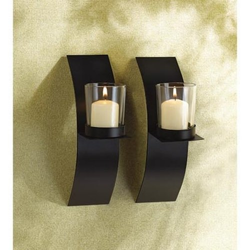 Gifts & Decor Modern Art Candle Holder Wall Sconce Plaque, Set of 2 New eBay