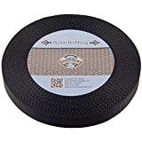Country Brook Design 3/4 Inch Black Nylon Heavy Webbing, 10 Yards