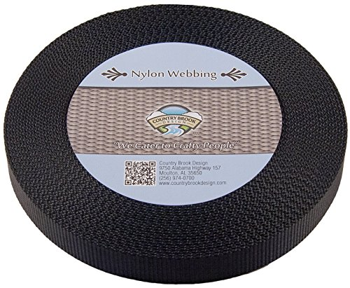 Country Brook Design® 1 Inch Black Nylon Heavy