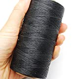 284yrd black Leather Sewing Waxed Thread 150D 1mm Leather Hand Stitching 125g