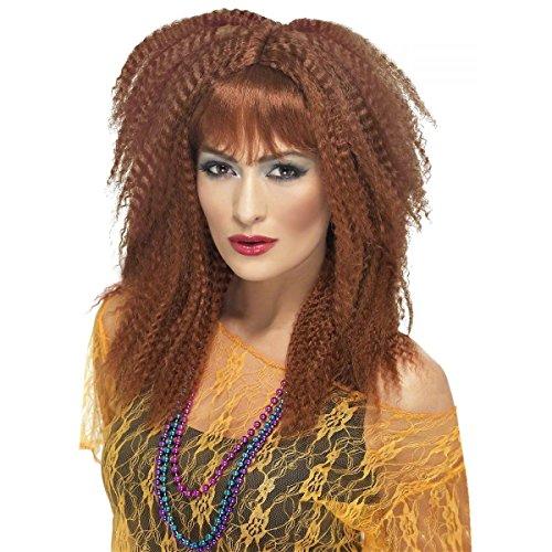 [GSG 80s Crimp Wig Adult Womens Rock Pop Star Costume Accessory] (Womens Masquerade Costume Countess)