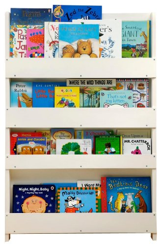 Tidy Books Children's Bookcase (White, No Letters)