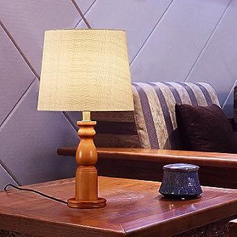 Makenier lampada da tavolo in stile country in legno for Lampade stile country