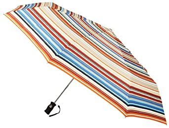 Totes Signature SuperDome Auto Open/Close Umbrella, Awning Stripe, One Size
