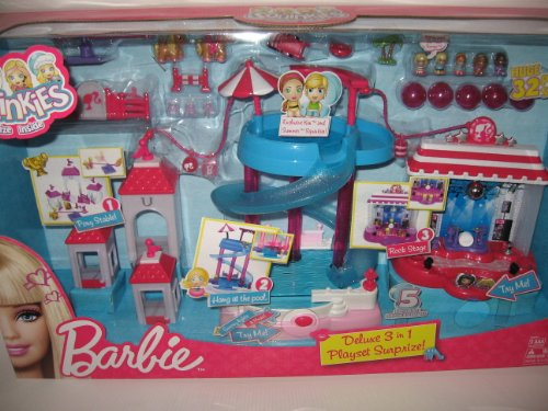Squinkies Barbie Deluxe 3-in-1 Play Set Surpize