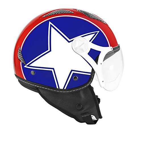 CASQUE JET TNT HELIOS STAR USA BRILLANT XS