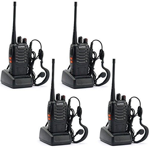 BAOFENG BF-888S Walkie Talkie with Built in LED Torch (Pack of 4) (Walkie Talkie Long Range compare prices)