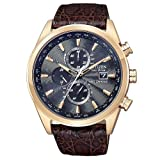 Citizen Mens AT8013-17E Eco-Drive Limited Edition World Chronograph Dress Watch