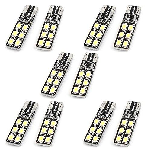 Best Plus T10 6W 12-Smd 2835 Led White Light Car Steering Lamps (Dc 12V / Pair) (Pack Of 10)