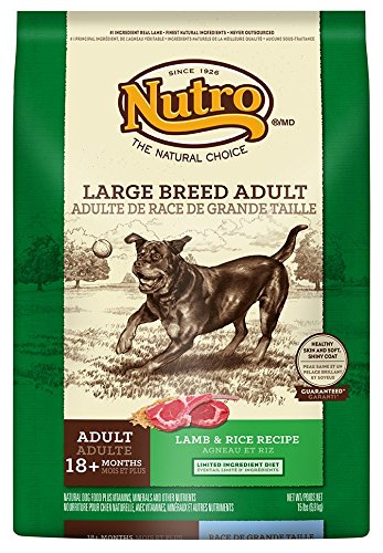 NUTRO Large Breed Adult Dog Food, Lamb and Rice 15 lbs. (Nutro Natural Choice Dog Treats compare prices)