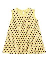 Wowmom Baby-Girls' Lime Yellow Frock
