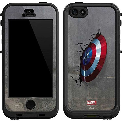 Marvel Avengers Lifeproof Nuud iPhone 5&5s Skin - Captain America Vibranium Shield Vinyl Decal Skin For Your Lifeproof Nuud iPhone 5&5s (Iphone 5 Marvel Decal compare prices)
