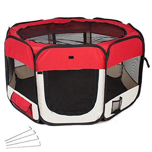 tectake-tenda-box-per-cagnolini-cuccioli-e-piccoli-animali-rosso