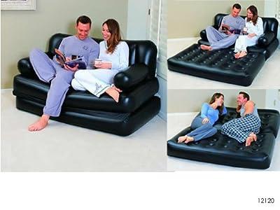 Bestway Couch 5in1 Luftbett Mit Pumpe Gaestebett Doppelbett bei aufblasbar.de