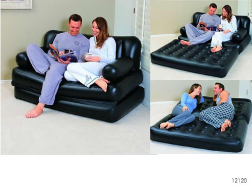 bestway couch 5in1 luftbett mit pumpe gstebett doppelbett. Black Bedroom Furniture Sets. Home Design Ideas