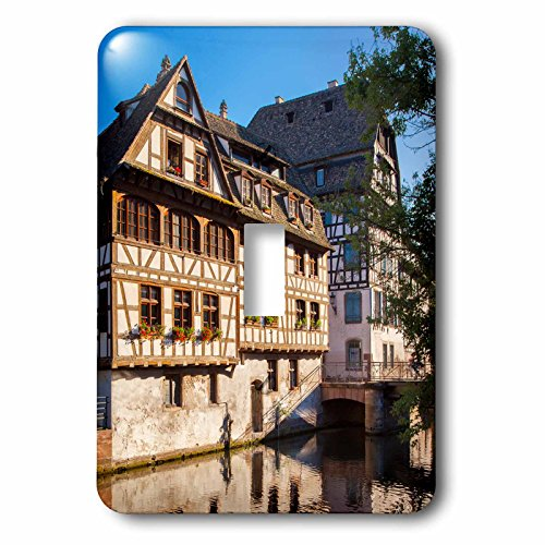 3dRose lsp_187340_1 Buildings Along The Canal of River Lil in Strasbourg, Alsace, France Light Switch Cover (Lil Of France compare prices)