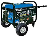 DuroMax XP4400E 4,400 Watt 6.5 HP OHV 4-Cycle Gas Powered Portable Generator With Wheel Kit And Electric Start