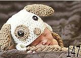 Baby-gestrickte Mützen Kostüm Handarbeit gehäkelt Fotografie Props Blumen-Hut 0-6 Monate M04