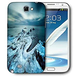 Snoogg Cool Ice Printed Protective Phone Back Case Cover For Samsung Galaxy Note 2 / Note II