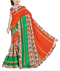 Kartik Fashion Women's Georgette Saree - 29_Multi-Coloured