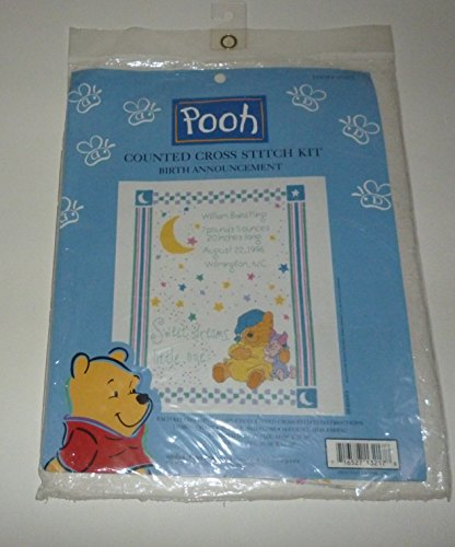 Pooh Birth Announcement Cross Stitch - 1