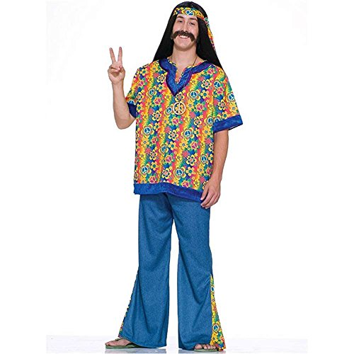 Plus Size Hippie Dude Adult Costume - Plus Size