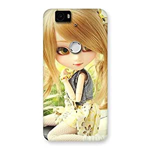 Stylish Cute Smiling Doll Multicolor Back Case Cover for Google Nexus-6P