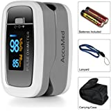 AccuMed CMS-50D1 Pulse Oximeter Finger Pulse Blood Oxygen SpO2 Monitor W Carrying Case Landyard Battery FDA CE... - B00XWP7BIY