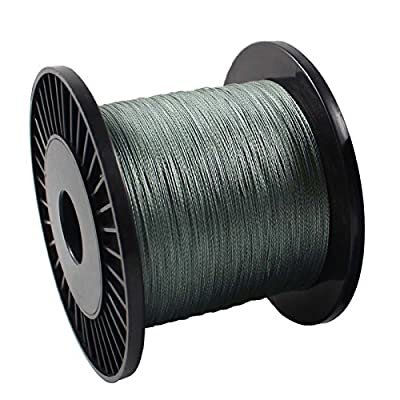 OurWarm 20lb/9.0kg 4strands Spectra braid Fishing Line 500M Dark Silver by OurWarm