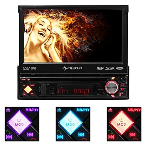 auna-MVD-200-Autoradio-Moniceiver-DVD-Player-18cm-7-Touchscreen-Display-Bluetooth-USB-SD-Slot-Multimediaplayer-abnehmbares-Bedienteil-Fernbedienung-Freissprechtelefonie-CDMP3WMAJPEGMPEG-Mglichkeit-zum