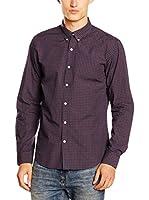 Timberland Camisa Hombre Ls Poplin Check (Vino)