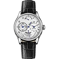 Ingersoll Men's Automatic Watch with White Dial Analogue Display and Silver Stainless Steel Bracelet IN4104BLWH