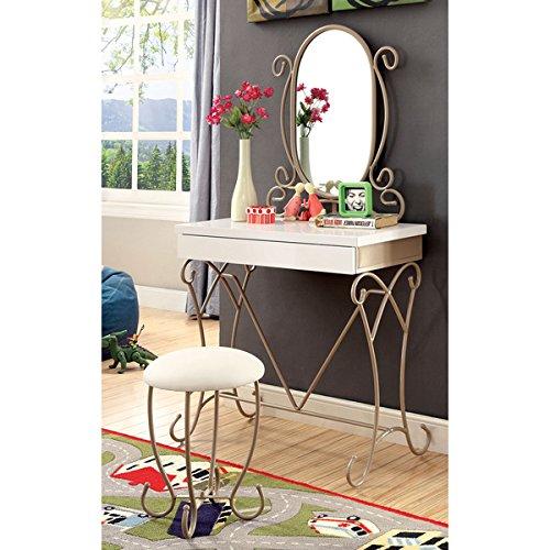Furniture of America Princess Dream 2-piece Vanity with Stool Set (Iron Vanity Set compare prices)