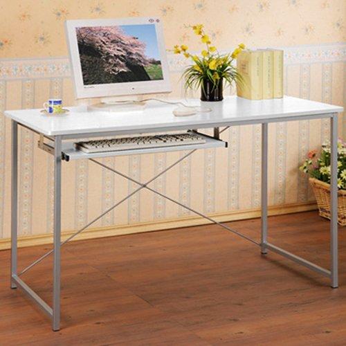 TRES - Office Desk / Computer Workstation - White / Grey